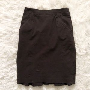 Body by Victoria brown pencil skirt w sass